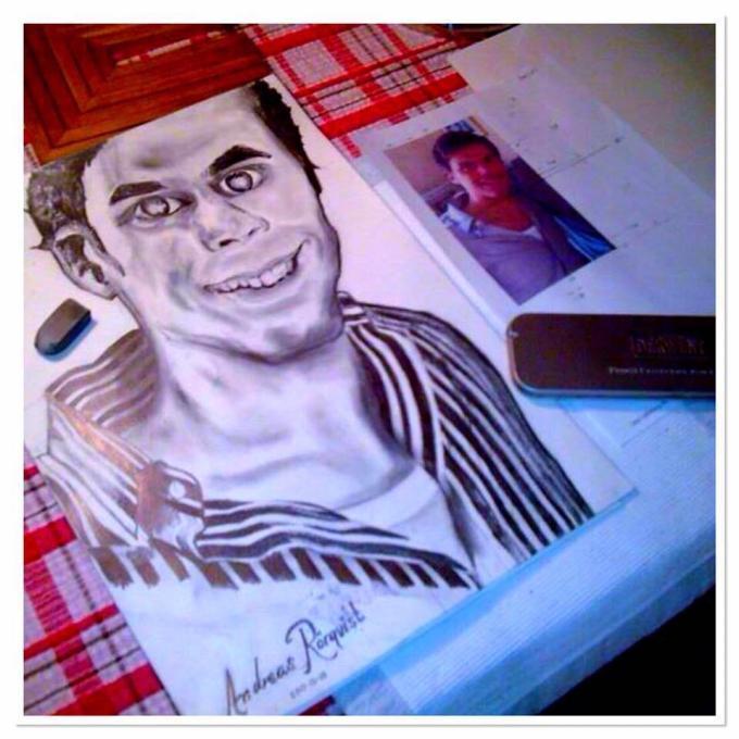 Andreas Rörqvist Konst Art Portrait Porträtt Jacob Lilljegren