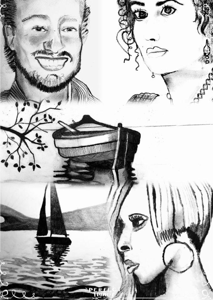 Black and White portraits art konst