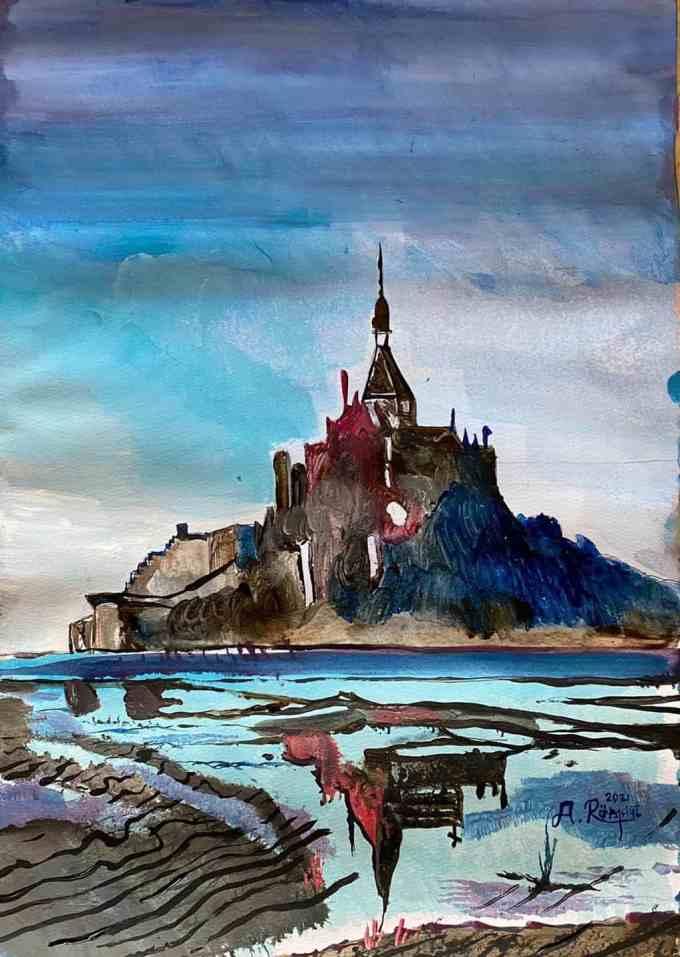 Frankrike, Andreas Rörqvist, Konst, Akrylfärg, Kloster