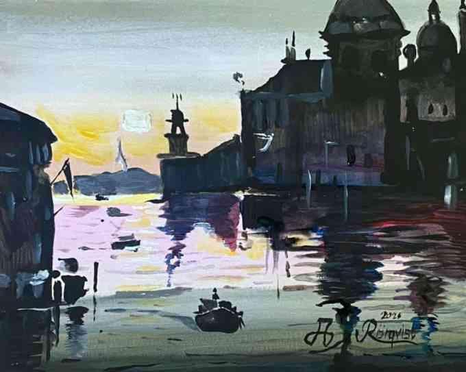 Venedig, Italien, Andreas Rörqvist, Konst, Akrylfärg