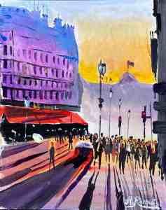 Parismålning Andreas Rörqvist Frankrike