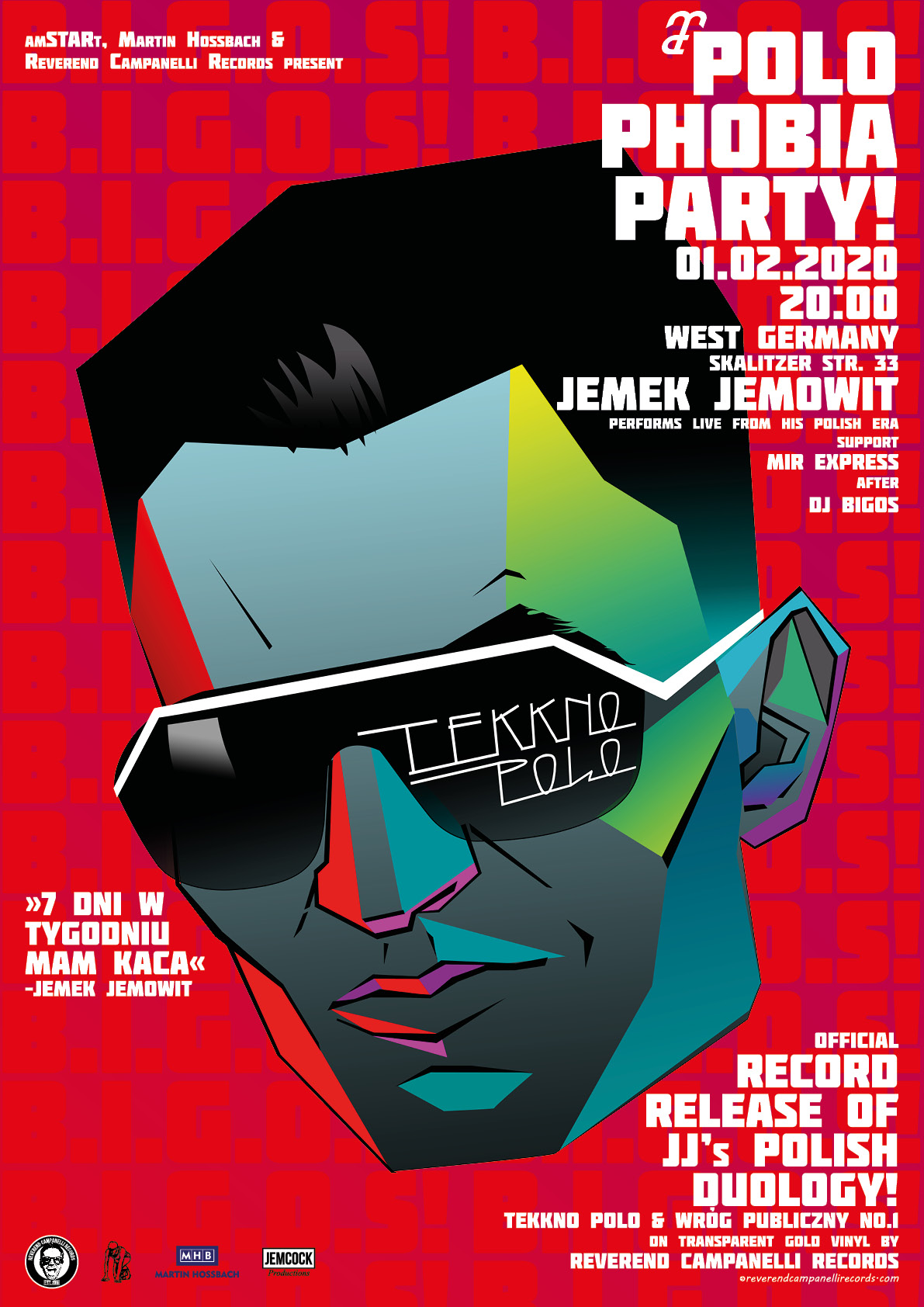 Jemek Jemowit's Polophobia Party and Record Release