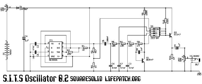 inverted 555 timer schematic