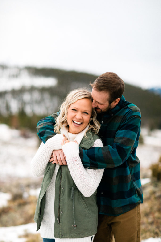 Rachael and Ryan Breckenridge Colorado Engagement Photography