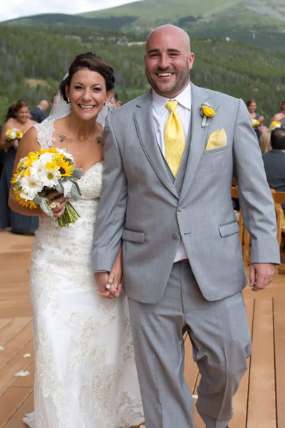 Ashley and Brandon Lodge at Breckenridge
