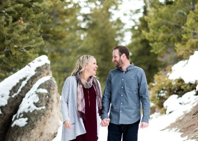Lake Dillon Colorado Winter Engagement Session 22