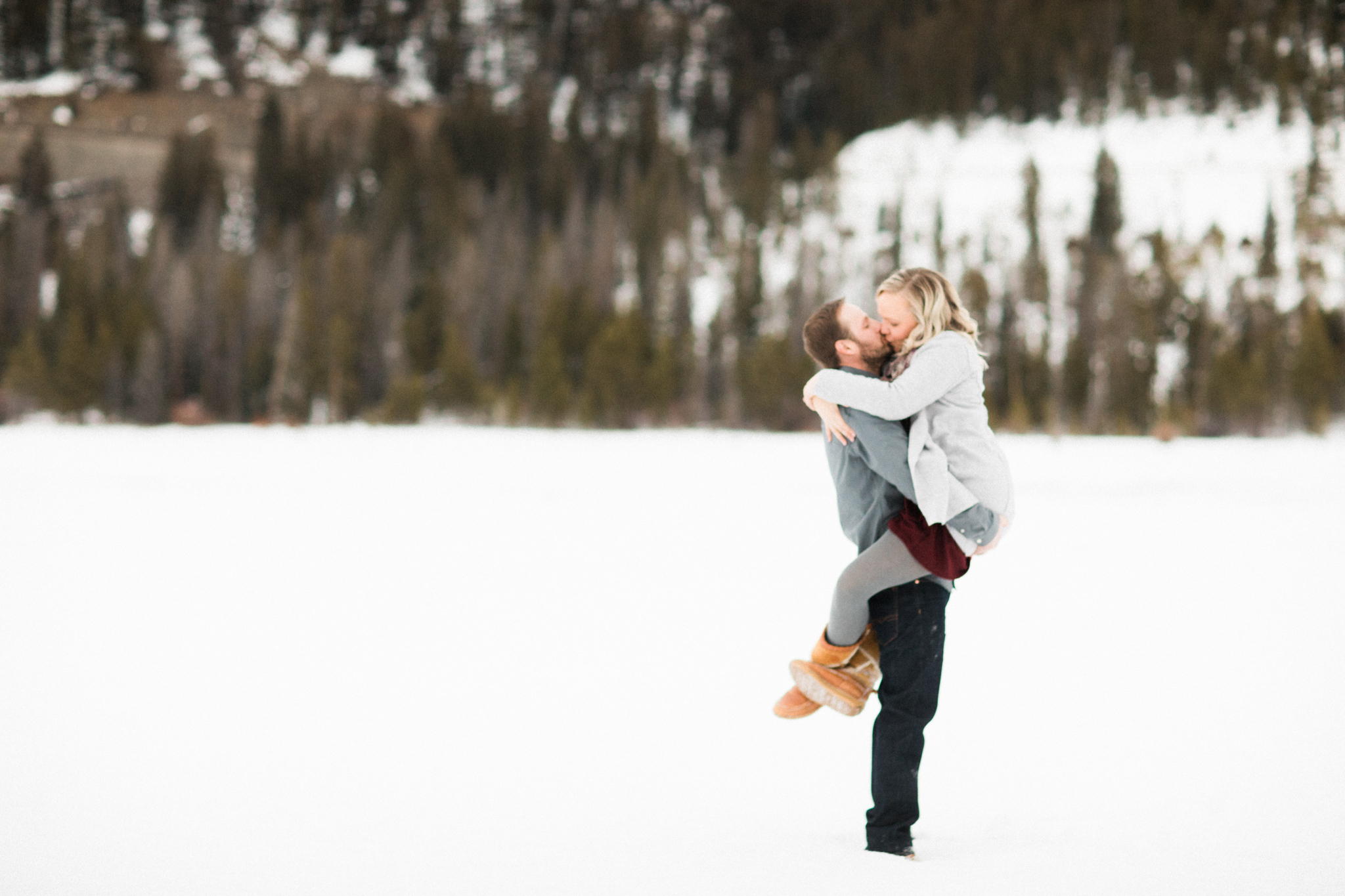 Lake Dillon Colorado Winter Engagement Session 26