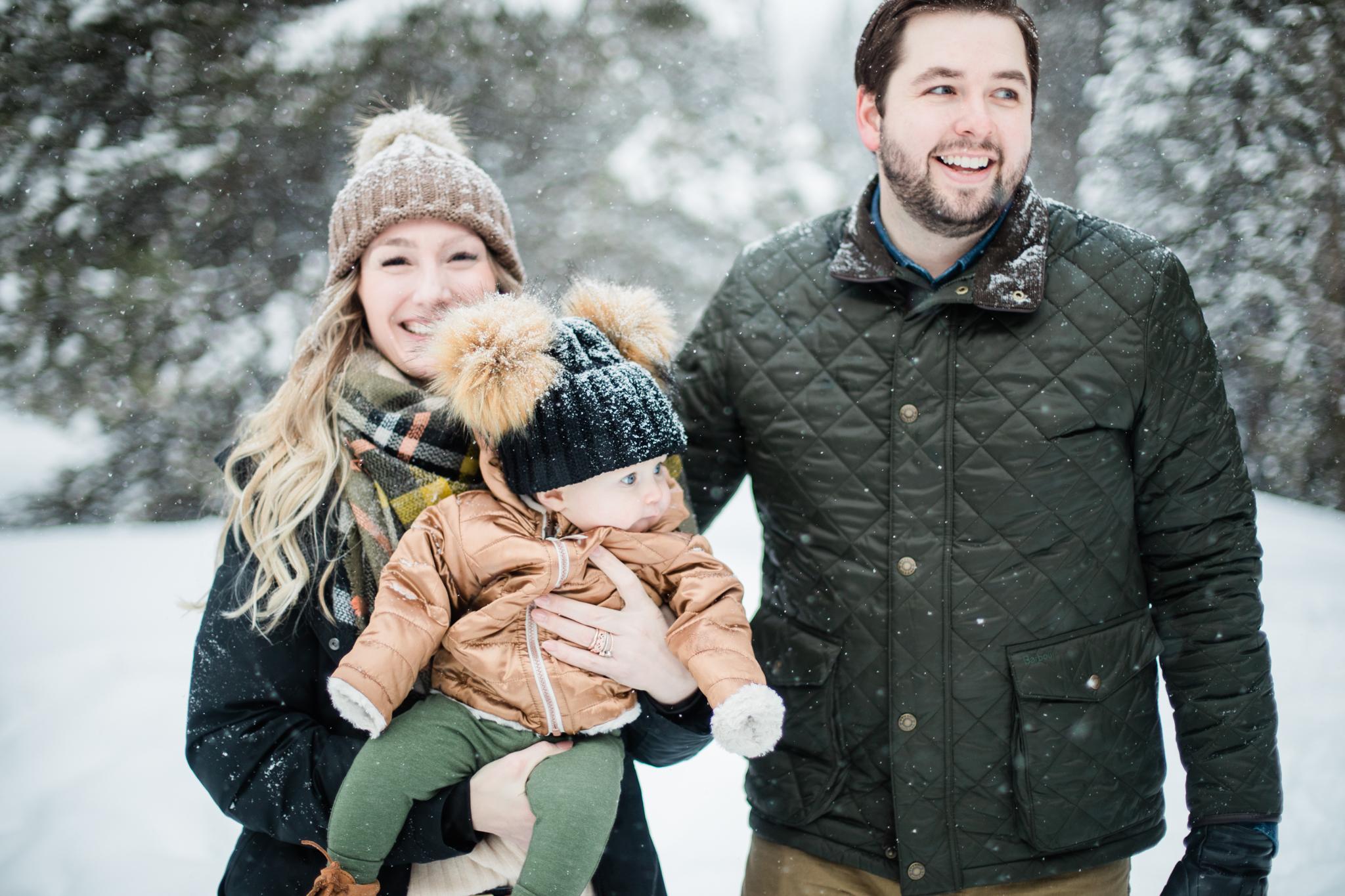 Snowy Breckenridge Family Photography