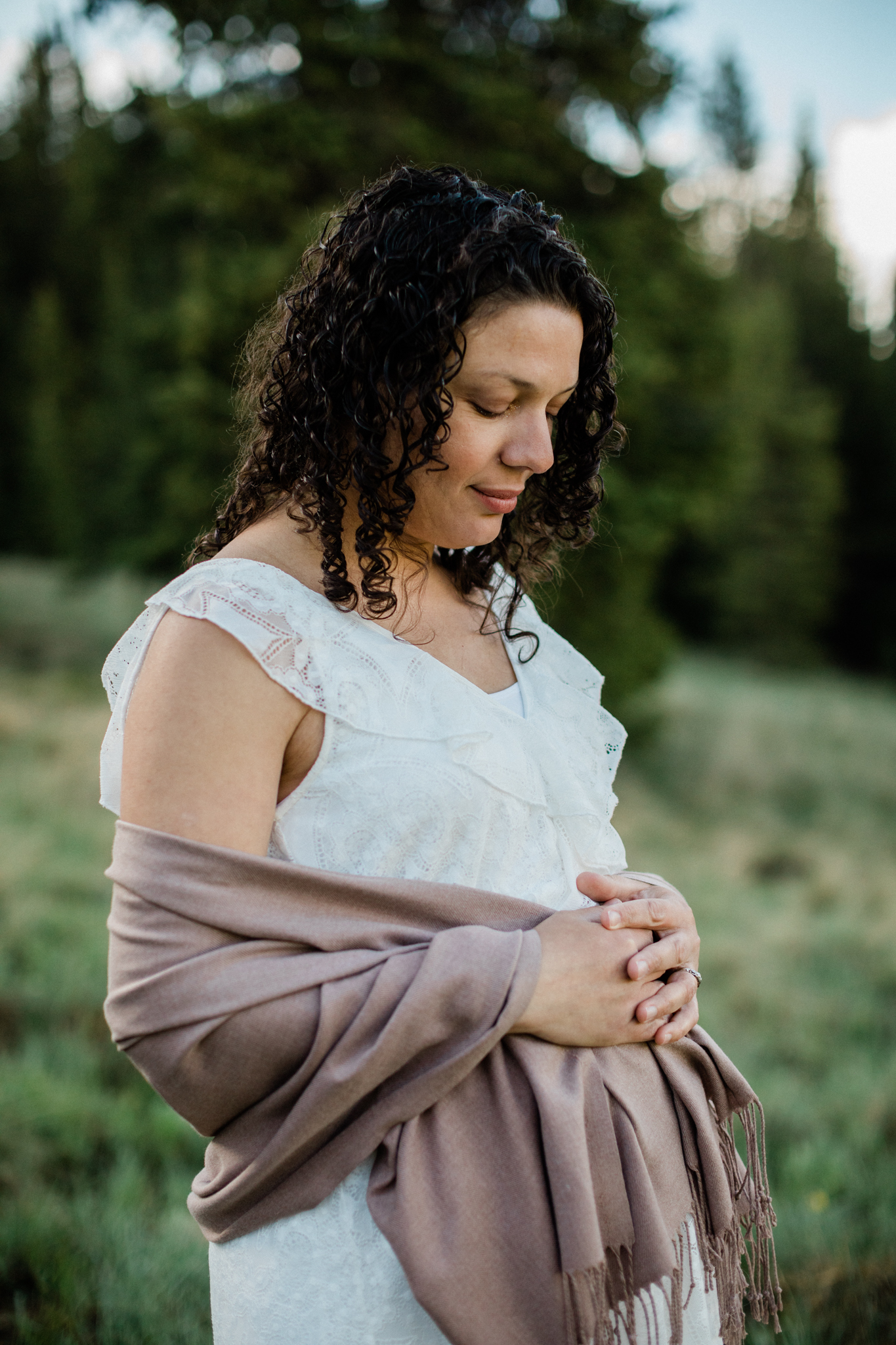 Maternity Sunrise Session Breckenridge