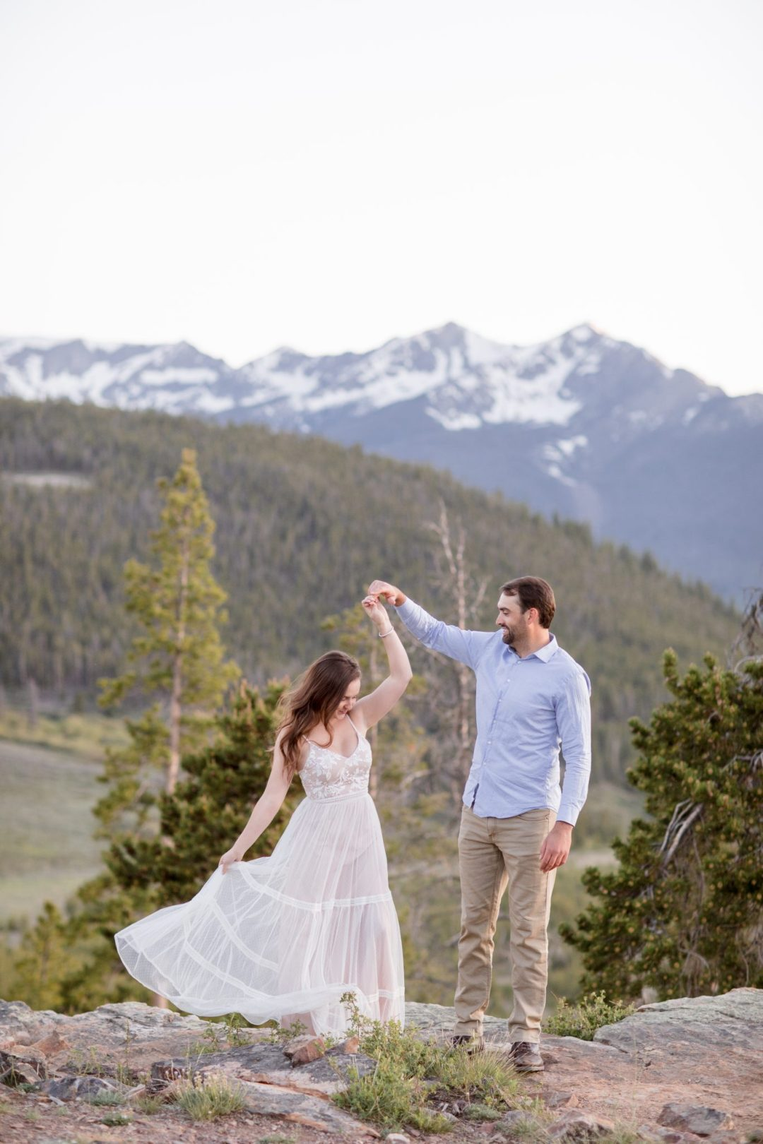 Mountain top proposal in Breckenridge Colorado