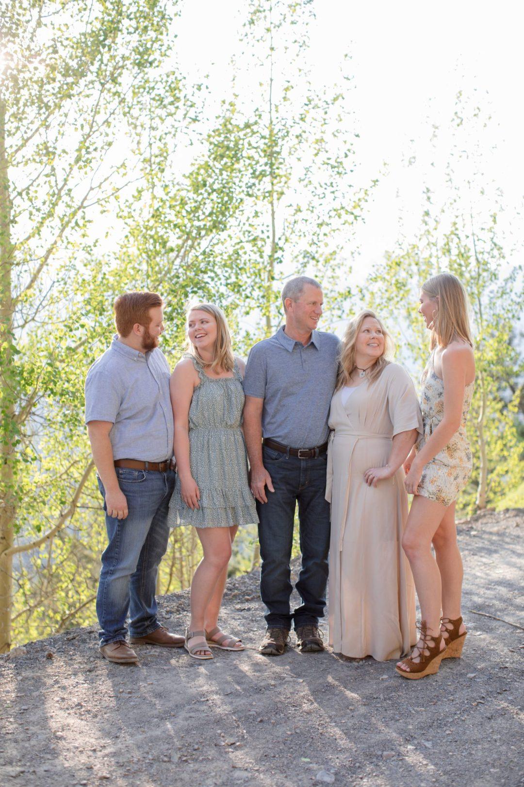 Summer family portrait session in Breckenridge