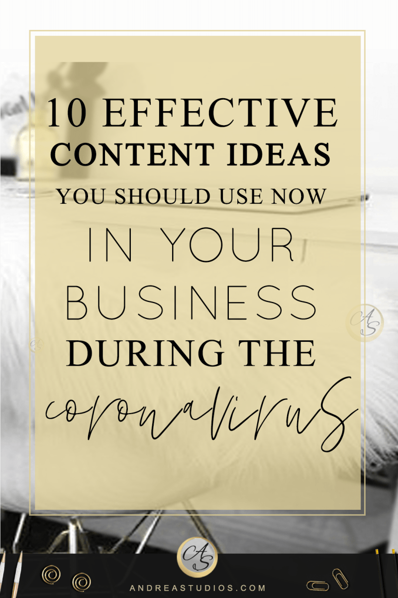 10 Effective Content Ideas You Should Use Now in your business During the Coronavirus