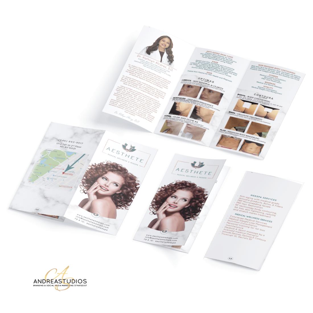 Trifold Brochure Design and Printing for Aesthete Medspa