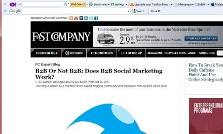 Is Social Media Marketing an Effective B2B Tool?