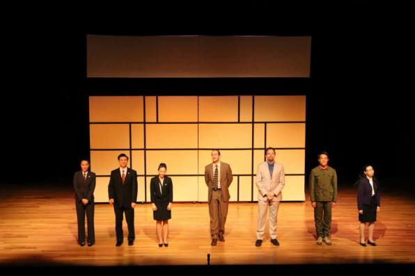 "Curtain call for Black Lab Theatre's production of ""Chinglish"" by David Henry Hwang at Asia Society Texas Center in Houston, TX."