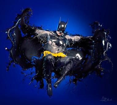 References: BATMAN (Alex Ross) + SPLASH HEROES (AurumLight: Jaroslav Wieczorkiewicz)