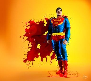 References: SUPERMAN (Alex Ross + Christopher Reeve) + SPLASH HEROES (AurumLight: Jaroslav Wieczorkiewicz)