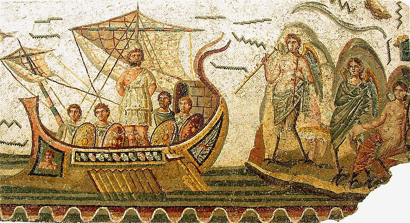 mosaico ulisses e as sirenes