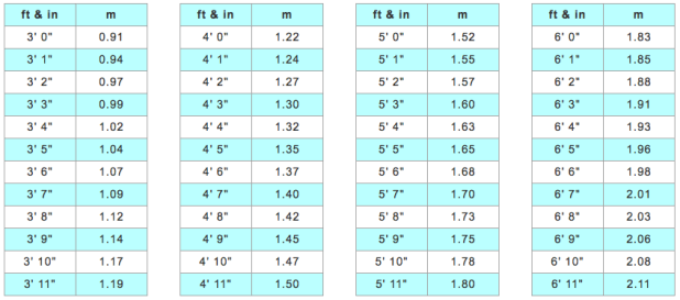 Results For Conversion Table Feet And Inches To Centimeters