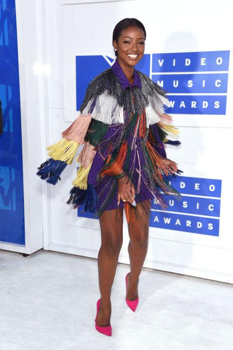 MTV Video Music Awards - Justine Skye, rochie Missoni