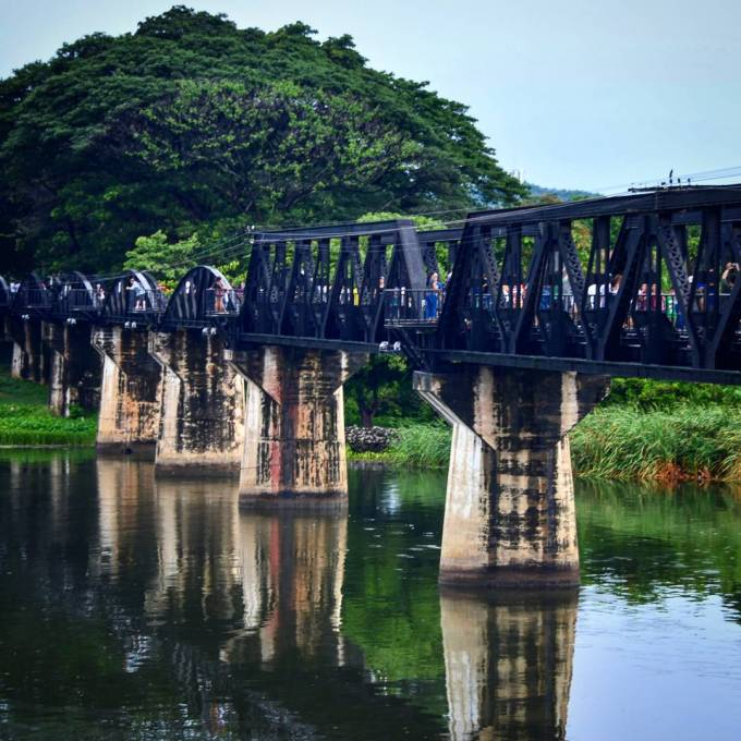 Bridge on the River Kwai, Kanchanaburi, Thailand, WWII