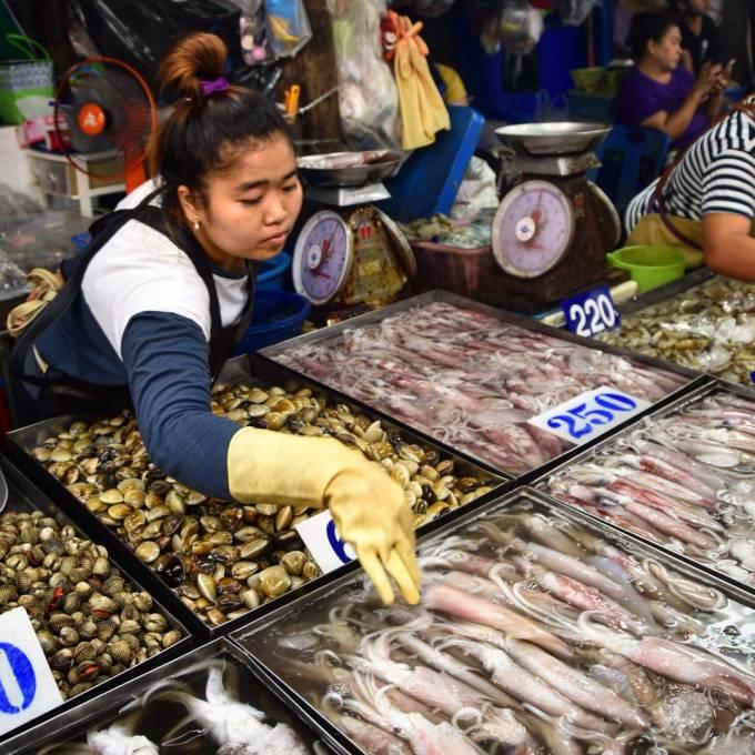 Naklua Pattaya Thailand market