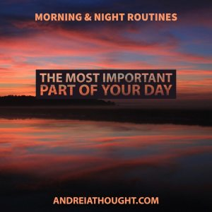 morning and night routines
