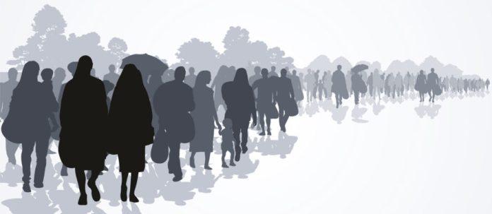 migrating people