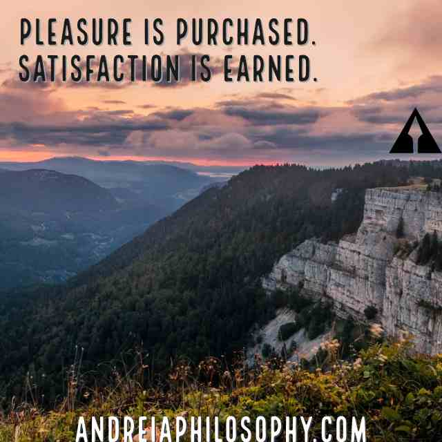pleasure is purchased