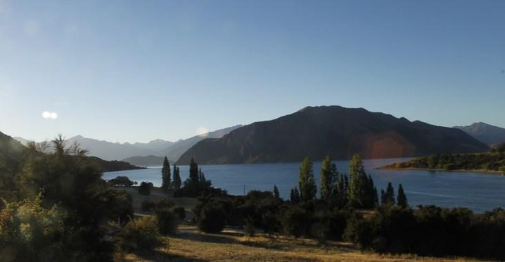 paesaggio di lago nell'Isola Sud della Nuova Zelanda