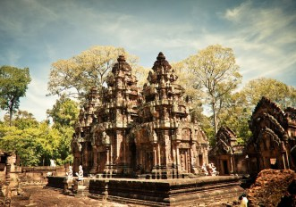 Banteay Srei - one of the more distant temples in the Angkor Wat complex
