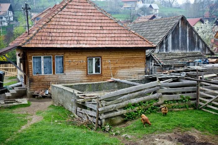 rural house near Bran Castle in Romania