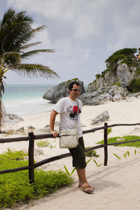 enjoying the sea and sun in Tulum, Mexico