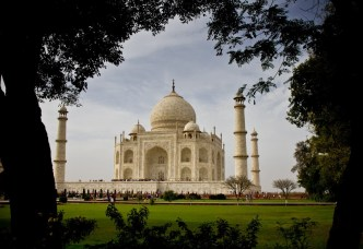 the famous Taj Mahal - one of the reasons people go to India