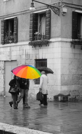 colourful umbrellas in Venice - the reason to always carry a camera, no matter the weather