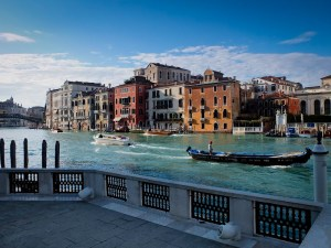 view of Gran Canale in Venice from Peggy Guggenheim museum