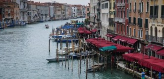 Gondolas in Venice - Fuji X10 as travel camera
