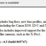 Adobe Lightroom update notification