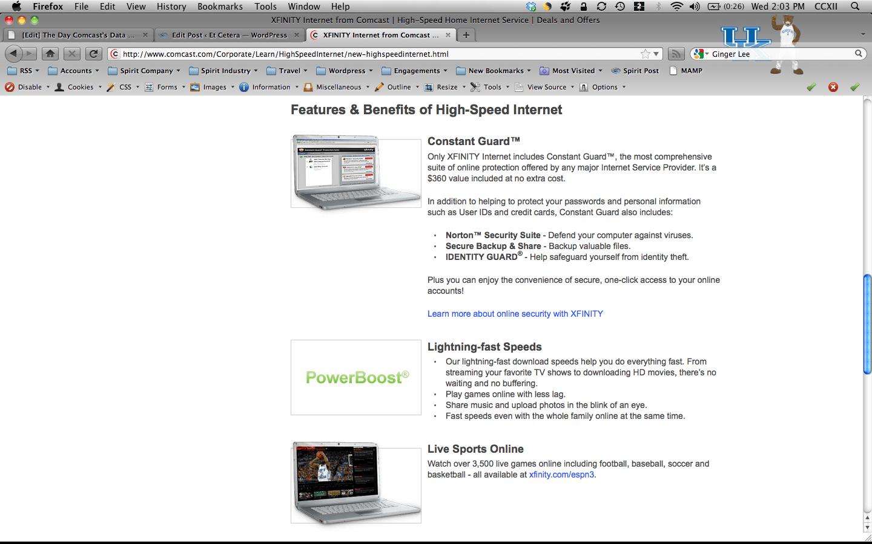 Comcast High Speed Internet