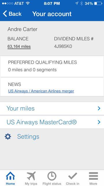 US Air Account