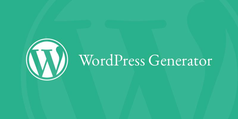 Generadores de código para WordPress   Andres Dev