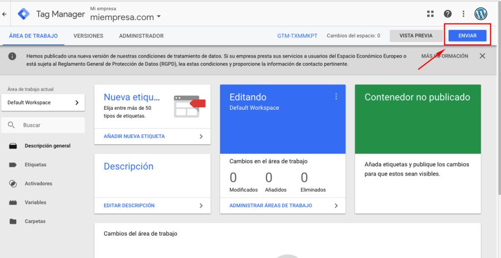 Como agregar Google Tag Manager en WordPress 7