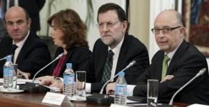 Rajoy con ministros principales vozpopuli