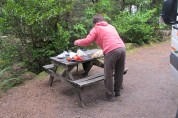 Preparant bocates al Tongariro National Park. Nova Zelanda