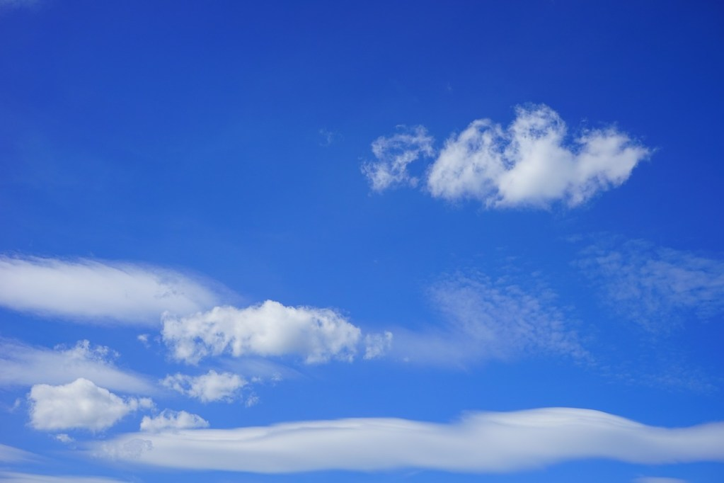 clouds, sky, summer day