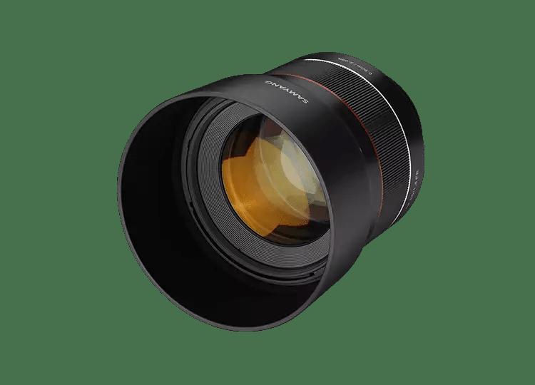 Объектив Samyang AF 85mm F1.4 FE - вид спереди