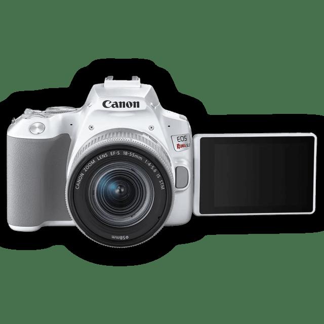 Зеркальная камера начального уровня Canon EOS 250D (Rebel SL3) - с открытым экраном