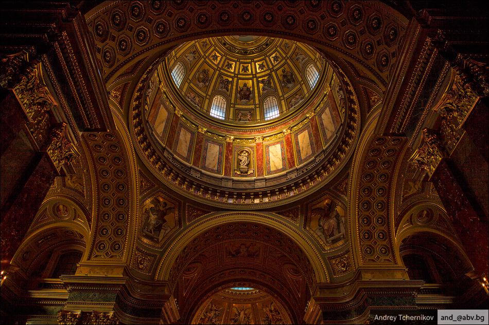 Budapest. The dome of the Basilica of St. Stephen(Szent István Bazilika).