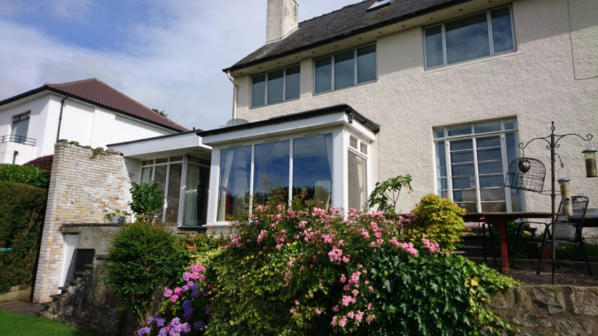bay window extension in full bloom