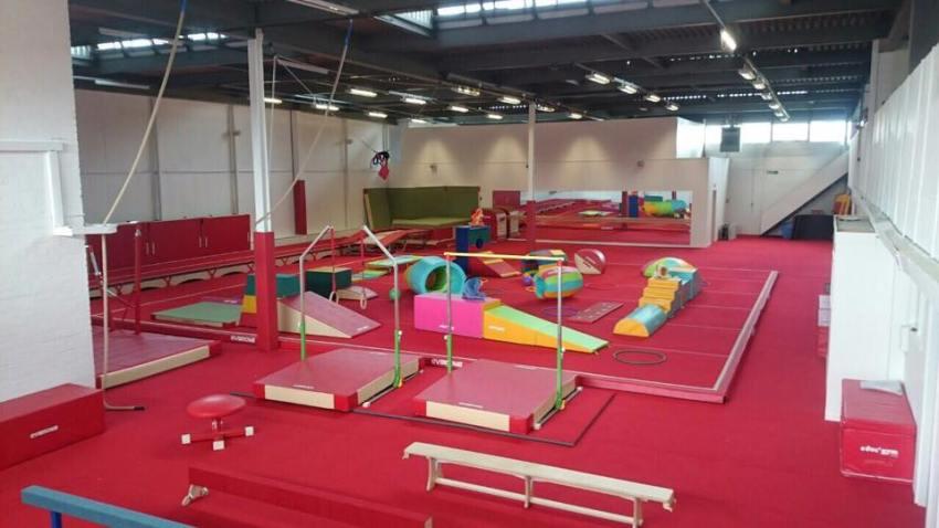 conversion of warehouse to new gymnastics training facilities (2)
